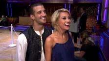 Chelsea Kane and Mark Ballas talk to OnTheRedCarpet.com after Dancing With The Stars on May 10, 2011. - Provided courtesy of OTRC