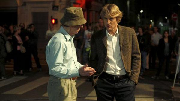 Woody Allen and Owen Wilson appear in a still from Midnight in Paris. - Provided courtesy of Sony Pictures Classics