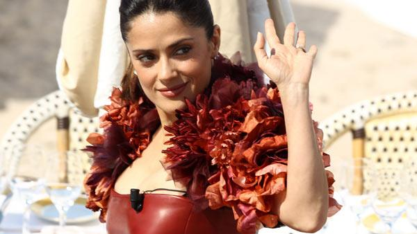 Salma Hayek attends the Puss in Boots Photocall at Carlton Beach during the 64th Cannes Film Festival on May 11, 2011 in Cannes, France. - Provided courtesy of Andreas Rentz / Getty Images / Royal-Free