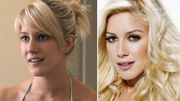 Heidi Montag appears in a scene from MTV series The Hills in 2007. / Heidi Montag appears in a photo posted on her Facebook page on April 1, 2009. - Provided courtesy of MTV / facebook.com/heidimontag