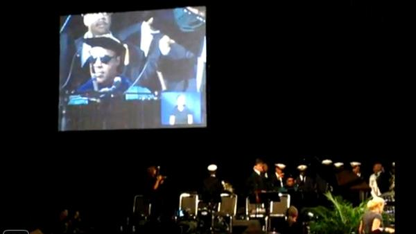 Stevie Wonder performs at Tulane University, which awarded him an honorary degree, on May 12, 2011. - Provided courtesy of youtube.com/user/sinez3