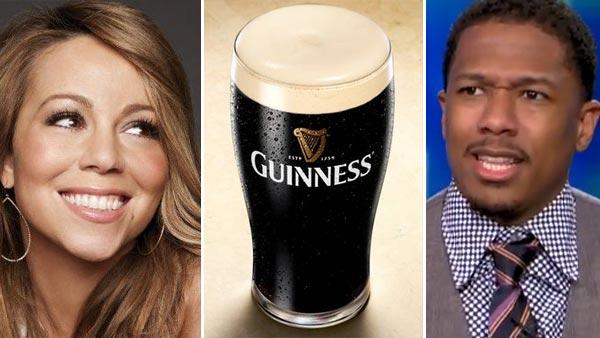Mariah Carey appears in a photo posted on her Facebook page on May 8, 2010. / A pint of Guinness beer. / Nick Cannon appears on Piers Morgan Tonight in May 2011. - Provided courtesy of facebook.com/mariahcarey / flickr.com/photos/netweb / CNN