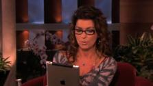 Shania Twain appears on The Ellen DeGeneres show on May 12, 2011 and reads from her biography From This Moment On. - Provided courtesy of Warner Bros.