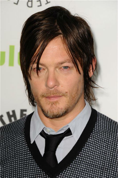 "<div class=""meta ""><span class=""caption-text "">The 'I-Mesh-Well' stare: Norman Reedus appears at a 2013 PaleyFest panel event for AMC's 'The Walking Dead' in Beverly Hills, California on March 1, 2013. (Giulio Marcocchi / Startraksphoto.com)</span></div>"