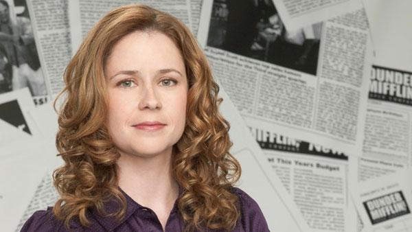 Actress Jenna Fischer in a promotional photo for the 2010-2011 season of The Office - Provided courtesy of NBC