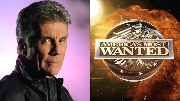 John Walsh in a promotional photo for Americas Most Wanted and an official logo for the show. - Provided courtesy of Fox