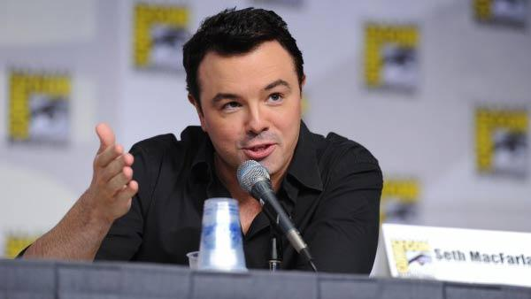 Seth MacFarlane during the AMERICAN DAD panel session Sunday, July 25, at the FOX FANFARE AT COMIC-CON 2010 - Provided courtesy of Fox