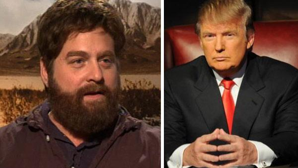 Zach Galifianakis speaks to OnTheRedCarpet.com in November 2010 about his new film Due Date with Robert Downey Jr. / Donald Trump appears in a promotional photo for NBCs The Celebrity Apprentice season 4, which begins on March 6, 2011. - Provided courtesy of OTRC / NBC