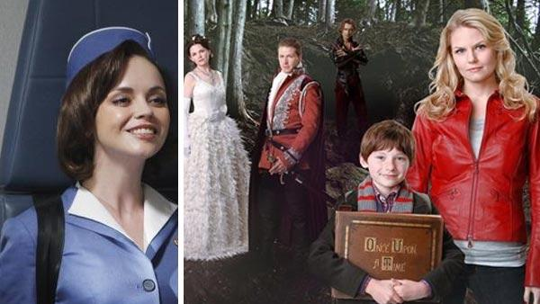 Christina Ricci appears in a scene from the ABC series Pan Am. /  Ginnifer Goodwin, Josh Dallas, Robert Carlyle, Jared Gilmore and Jennifer Morrison appear in a promotional photo for the ABC show Once Upon a Time. - Provided courtesy of ABC / Patrick Harbron / Craig Sjodin