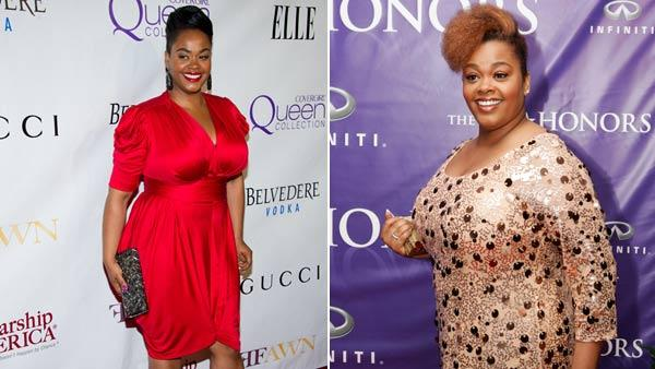 Left: Jill Scott arrives to the second annual Mary J. Blige Honors Concert to benefit FFAWNs Scholarship Fund, in New York, Sunday, May 1, 2011. Right:Scott stands on the red carpet after arriving for the BET Honors in this Saturday, Jan. 12, 2008. - Provided courtesy of AP / Charles Sykes / Evan Vucci