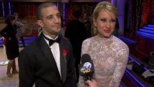 Chelsea Kane speaks after the eighth elimination on Dancing With The Stars: The Results Show on May 17.