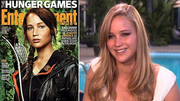 Jennifer Lawrence appears on the cover of Entertainment Weekly magazine / Jennifer Lawrence talks to OnTheRedCarpet.com on February 7, 2011. - Provided courtesy of OTRC / EW / OTRC