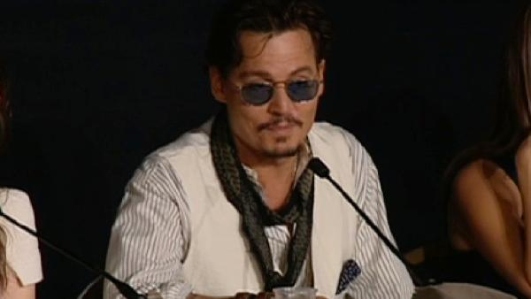 Johnny Depp appears at a press conference to promote Pirates of the Caribbean: On Stranger Tides at the 2011 Cannes Film Festival. - Provided courtesy of Walt Disney Company