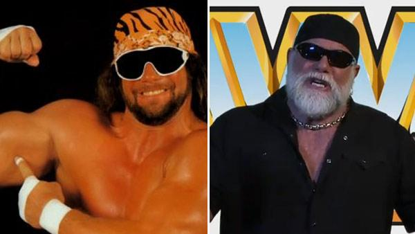 Pictured: Randy Savage appears in an undated photo posted on his Facebook page on April 14, 2009. / Randy Savage appears in a 2011 promo for the THQ video game 'WWE All Stars.'