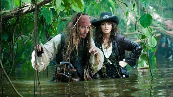 Penelope Cruz and Johnny Depp appear in a still from Pirates of the Caribbean: On Stranger Tides. - Provided courtesy of Walt Disney Pictures