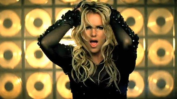 Britney Spears appears in a still from her 'Till the World Ends' music video.