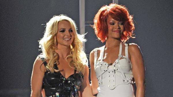 Britney Spears and Rihanna perform at the 2011 Billboard Music Awards in Las Vegas on Sunday, May 22, 2011. - Provided courtesy of ABC