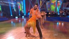 Kirstie Alley and her partner Maksim Chmerkovskiy appear in a still from Dancing With The Stars which aired on April 23, 2011. - Provided courtesy of OTRC / ABC
