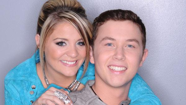 Lauren Alaina and Scotty McCreery appear in a promotional photo for American Idol. - Provided courtesy of Michael Becker / FOX