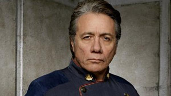 Edward James Olmos  appears in a scene from Battlestar Galactica.  - Provided courtesy of British Sky Broadcasting