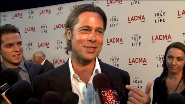 Brad Pitt talks to OnTheRedCarpet.com at the premiere of Tree of Life. - Provided courtesy of OTRC