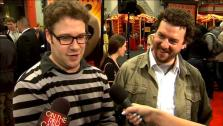 Seth Rogen and Danny McBride talk to OnTheRedCarpet.com at the premiere for Kung Fu Panda 2. - Provided courtesy of OTRC