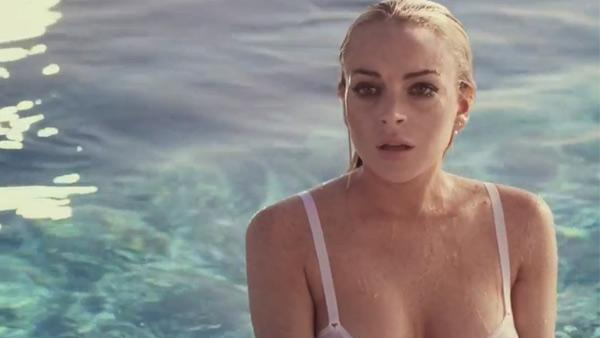 Lindsay Lohan appears in a still from Lindsay Lohan - A Richard Phillips Film. - Provided courtesy of YouTube