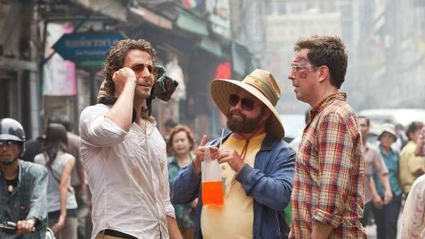 Bradley Cooper, Ed Helms and Zach Galifianakis appear in a still from their 2011 film, The Hangover Part II. - Provided courtesy of Warner Bros. Pictures