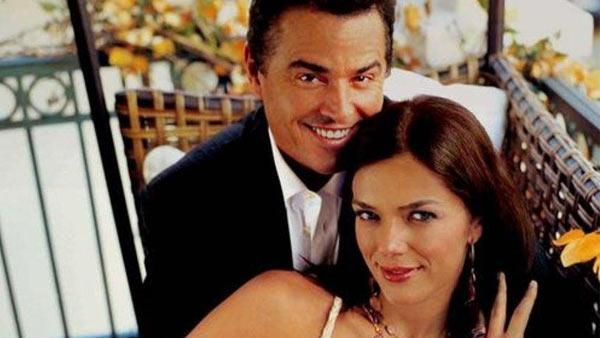 Christopher Knight and Adrianne Curry appear in a promotional photo from their VH1 series 'My Fair Brady.'