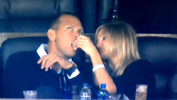 Cameron Diaz and Alex Rodriguez in a still from the 2011 Super Bowl.