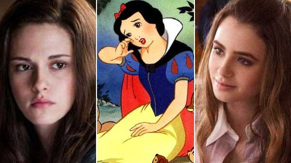R to L: Kristen Stewart in a scene from the 2010 film Twilight: Elclipse,A scene from the 1937 animated feature Snow White, Lily Collins in a scene from the 2009 film The Blind Side. - Provided courtesy of Summit Entertainment / Disney / Alcon Entertainment