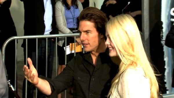 Tom Cruise and Elle Fanning's red carpet embrace
