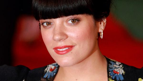 British singer Lily Allen arrives for the UK premiere of the movie 'Tamara Drewe' at a cinema in London, Monday, Sept. 6, 2010.