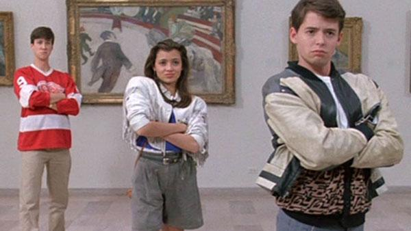 Matthew Broderick, Mia Sara and Alan Ruck appear in a scene from the 1986 film 'Ferris Bueller's Day Off.'