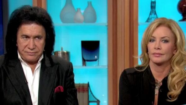 Gene Simmons and his longtime girlfriend Shannon Tweed in an interview for The Joy Behar Show in June 2011. - Provided courtesy of HLN