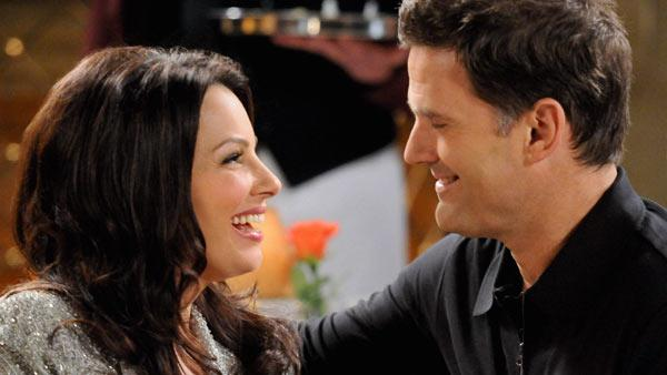 Fran Drescher and D.W. Moffett appear in a still from Happily Divorced. - Provided courtesy of TV Land