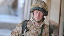 Prince Harry on patrol through the deserted town of Garmisir close to FOB Delhi (forward operating base), where he was posted in Helmand province Southern Afghanistan in 2007 and 2008. This photo was posted online by the Prince of Wales press office. - Provided courtesy of Prince of Wales press office / princeofwales.gov.uk