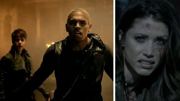 Justin Bieber, Chris Brown and Shannon Elizabeth appear in Browns music video Next 2 You, which was posted online on his official YouTube page on June 17, 2011. - Provided courtesy of JIVE Records, a unit of Sony Music Entertainment