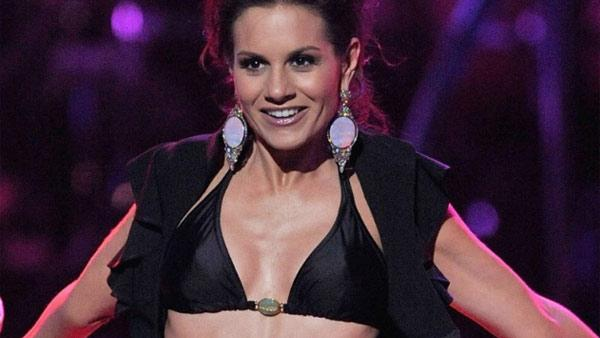 Kara DioGuardi appears in a bikini on the season 8 finale of American Idol in 2009. - Provided courtesy of FOX