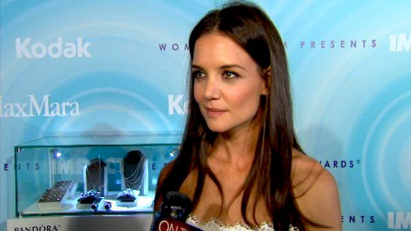 Katie Holmes talks to OnTheRedCarpet.com at the Women In Film gala on June 17, 2011. - Provided courtesy of OTRC