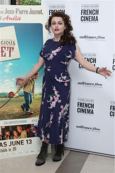 Helena Bonham Carter appears at a screening of T&#39;he Young and Prodigious T.S. Spivet&#39; in London on April 27, 2014. <span class=meta>(Abaca &#47; startraksphoto.com)</span>