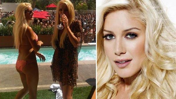 Heidi Montag and Crystal Harris party at the WetRepublic pool club at the MGM Grand Hotel and Casino in Las Vegas on June 19, 2011. / Heidi Montag appears in a photo posted on her Facebook page on April 1, 2009. - Provided courtesy of facebook.com/heidimontag / ow.ly/i/d9tF / WetRepublic Twitter page