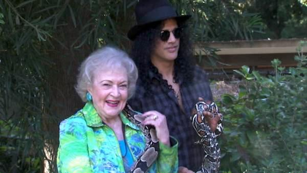 Betty White and Slash help LA Zoo