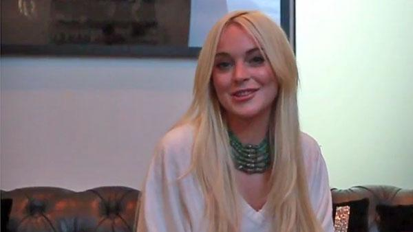 Lindsay Lohan appears in a still from her ad for Beezid. - Provided courtesy of Beezid.com