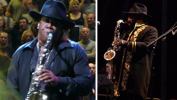 Clarence Clemons performs in concerts in 2007 and in 2009 in these royalty-free photos, posted online by fans.