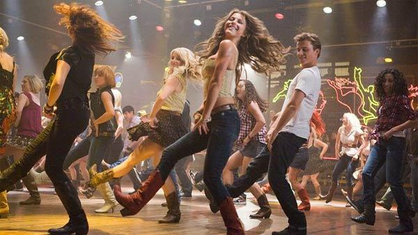 Kenny Wormald and Julianne Hough appear in a scene from the 2011 movie Footloose. - Provided courtesy of Paramount Pictures