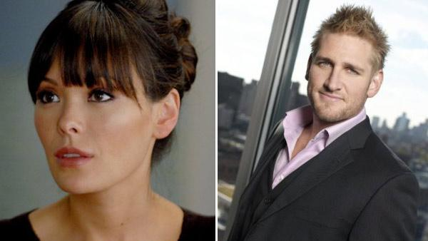 Lindsay Price appears in a still from Lipstick Jungle. / Curtis Stone appears in a still from The Apprentice. - Provided courtesy of NBC / NBC / Mitch Haaseth