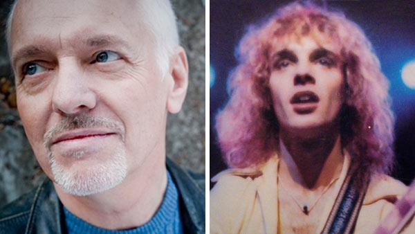 Peter Frampton appears in a photo posted on his Twitter page. / Peter Frampton appears on the cover of his 1976 album 'Frampton Comes Alive!'