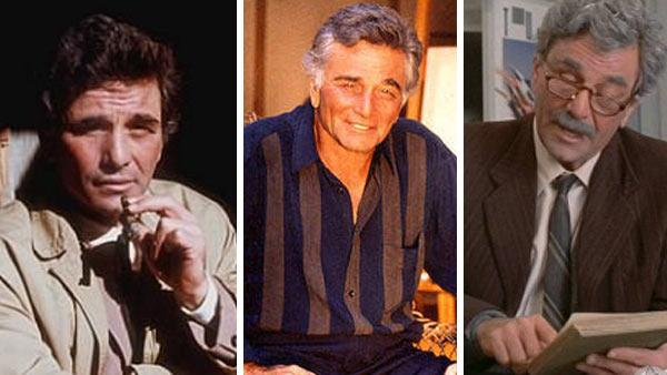 Peter Falk appears in a promotional photo for the NBC series 'Columbo.' / Peter Falk appears in a photo posted on his website in 2009. / Peter Falk appears in a scene from the 1987 movie 'The Princess Bride.'