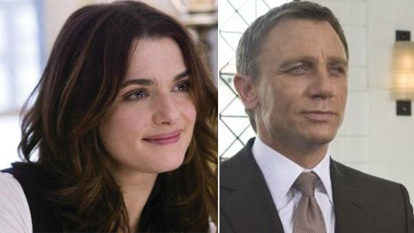 Rachel Weisz appears in a scene from the 2008 movie Definitely, Maybe. / Daniel Craig appears in a scene from the 2008 James Bond movie Quantum of Solace. - Provided courtesy of Universal Pictures / Metro-Goldwyn-Mayer (MGM) / Columbia Pictures